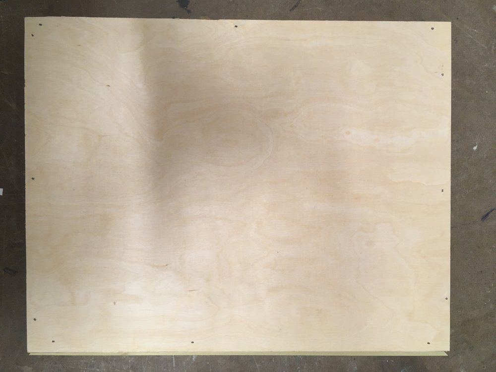 Wood panel before sanding