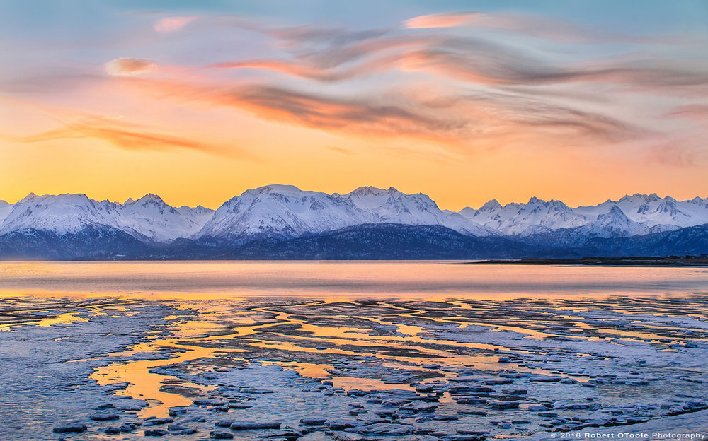 Landscape at Sunrise in Alaska