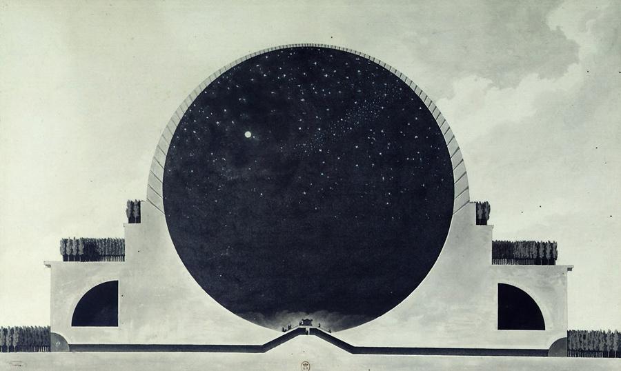 Etienne Louis Boullé, Newton Memorial, 1784