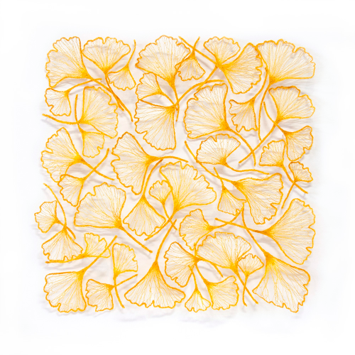 2015 Golden Gingko Square by Meredith Woolnough
