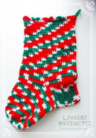 2016lindsay obermeyer free pattern christmas stocking crochet