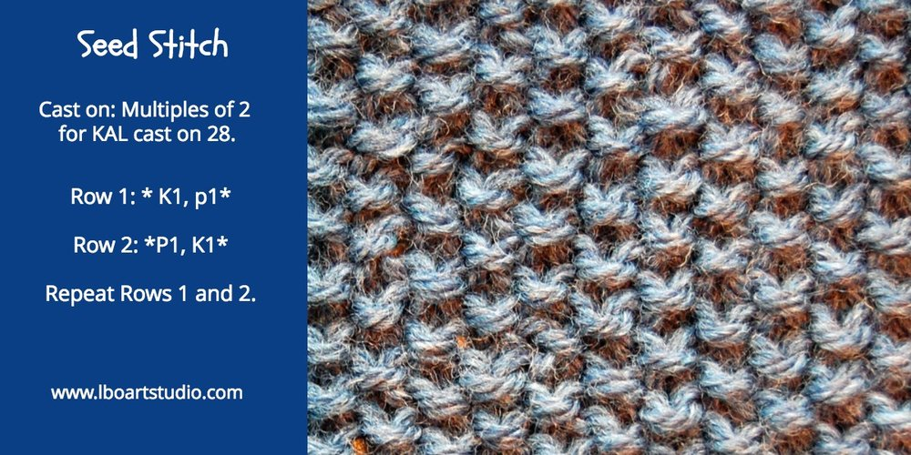 This stitch lays flat. It is reversible. Great for scarves and edges on garments, like a cuff or collar.  The trick to this stitch is  to knit the purl stitches of the previous row and purl the knit stitches of the previous row. This is a great one for learning to read your stitches.