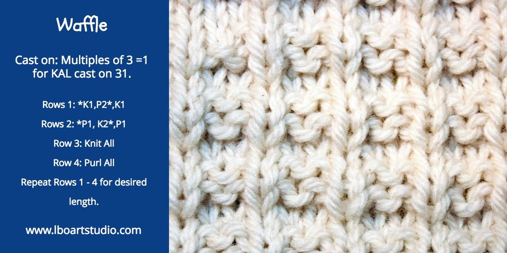 This stitch is fun to do with its easy 4 row repeat.  You need to mark the front with a stitch marker otherwise you can lose track while watching Netflix.