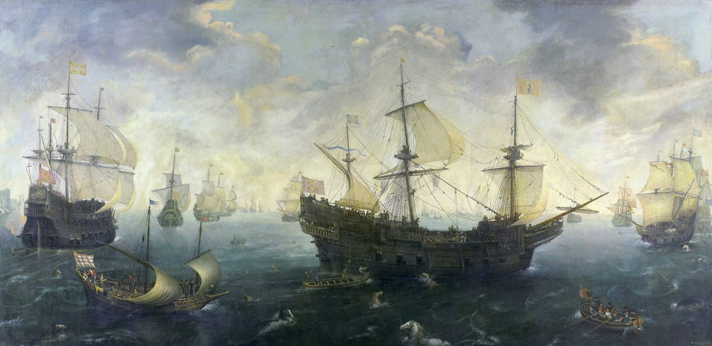 """The Spanish Armada off the English Coast"" by Cornelis Claesz van Wieringen (source: Wikimedia Commons)"