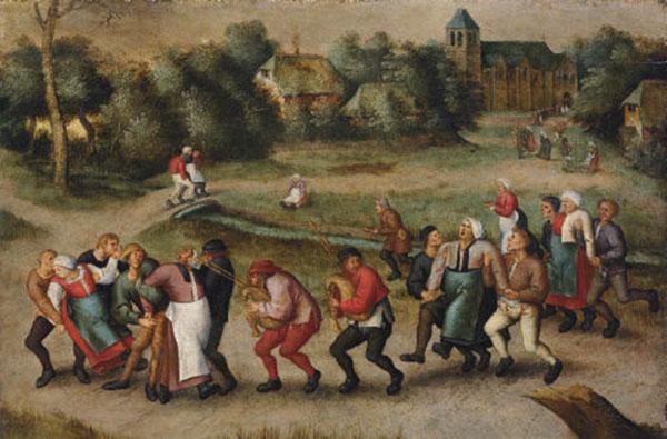 St. John's Dancers in Molenbeeck by Pieter Brueghel II, via Wikimedia Commons