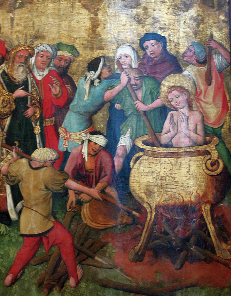 Martyrdom of Saint Vitus, circa 1450, artist unknown, via Wikimedia Commons