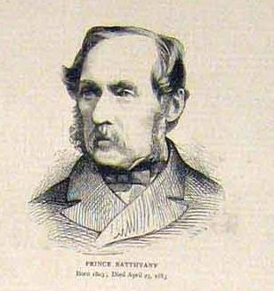 An 1883 portrait of Batthyány, via Wikimedia Commons