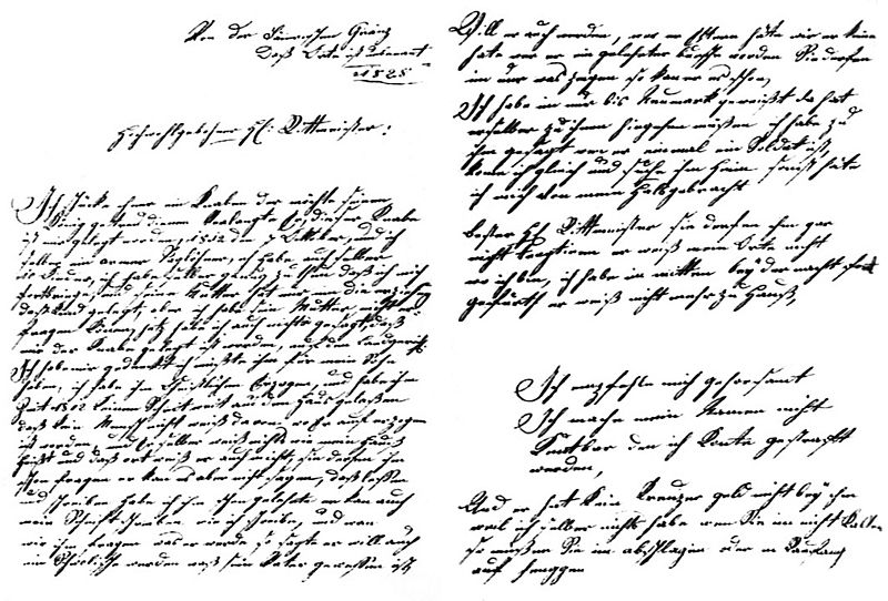 Old facsimile of Kaspar's Letter, via Wikimedia Commons