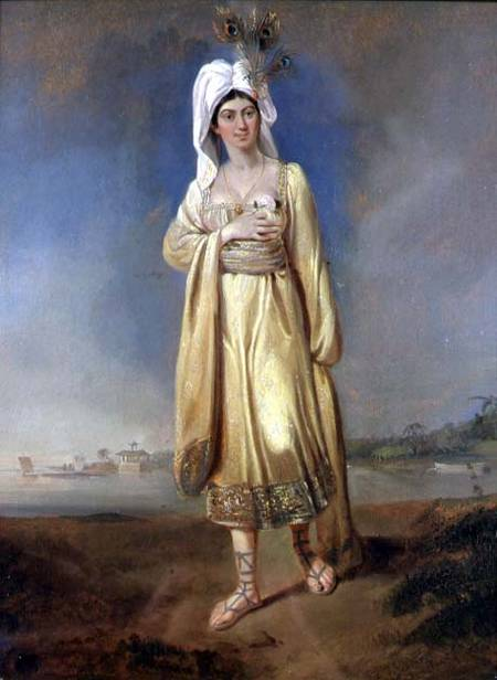 Princess Caraboo in costume, via Wikimedia Commons