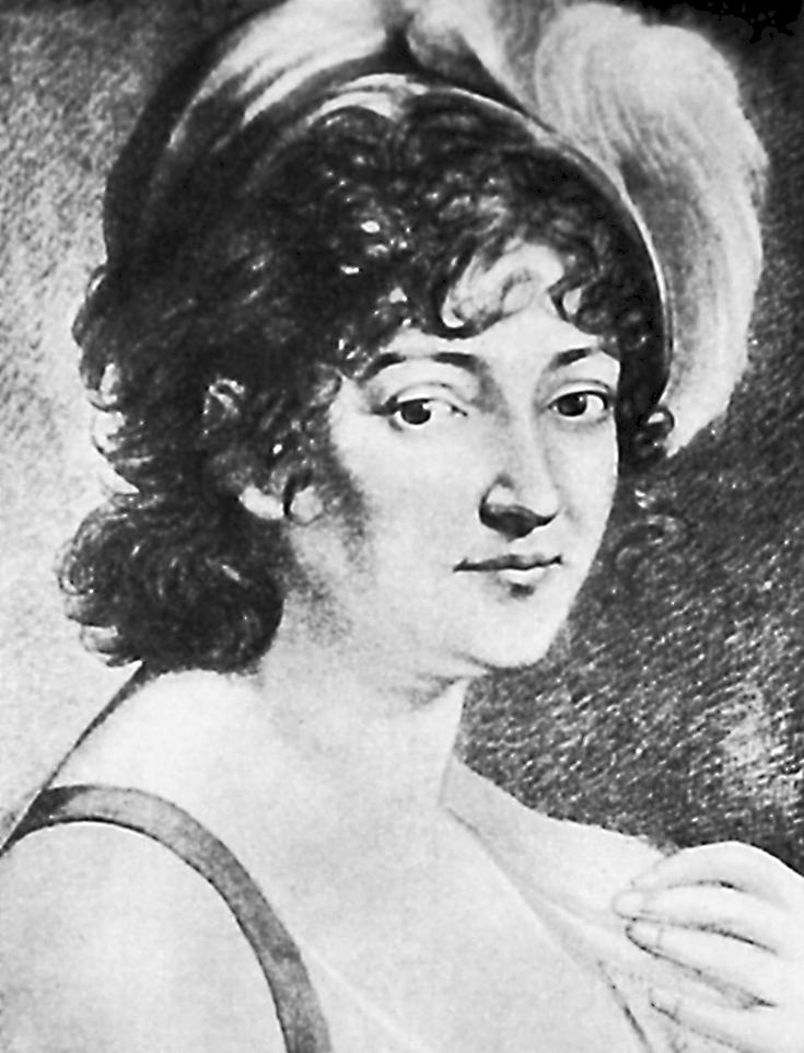 Portrait of Countess Hochberg, circa 1800, via Wikimedia Commons
