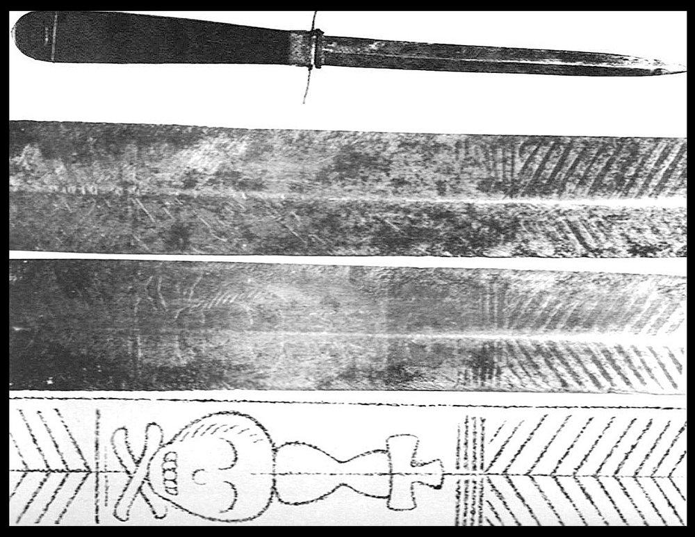 The dagger later found in the Hofgarten, via LiFo