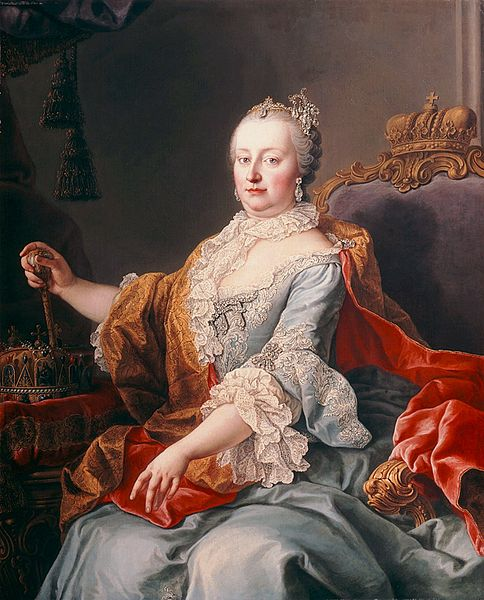Portrait of Empress Maria Theresa, via Wikimedia Commons