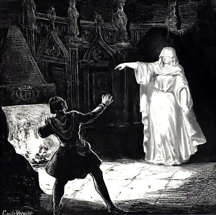 A depiction of a White Lady apparition, via  Wikimedia Commons