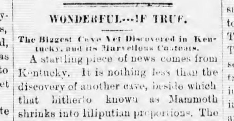 A clipping from the Chatham  Record , January 12, 1882