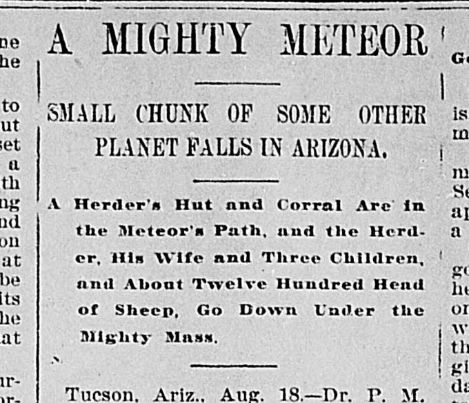 A clipping of the Turner County  Herald , August 20, 1896.