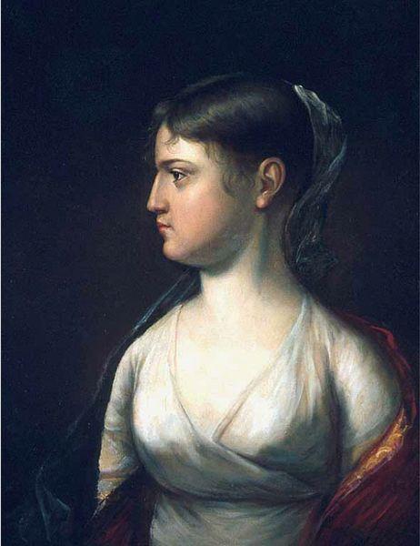 Reproduction of original John Vanderlyn portrait of Theodosia, via Wikimedia Commons.