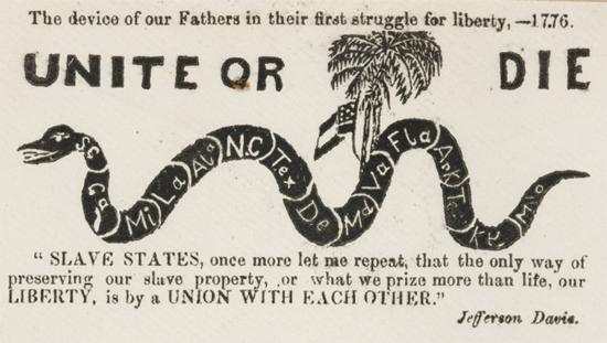 Confederate Pictorial Envelope, 1861, via Civil Discourse