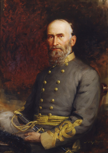 Jubal Early in Confederate military garb, via  Wikimedia Commons
