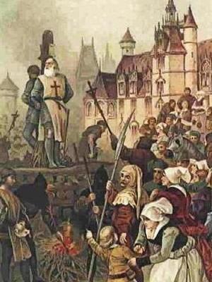 Knights Templar being burned at the stake, via istorianasveta.eu