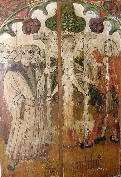 Painting depicting the murder of William of Norwich, via  Wikimedia Commons