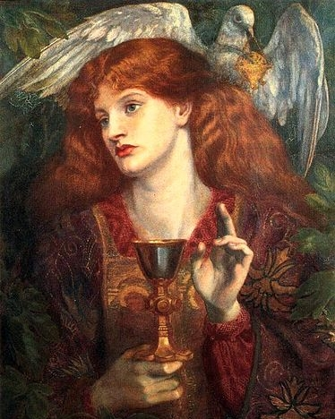 Dante Gabriel Rossetti's  The Damsel of the Sanct Grael , via  Wikimedia Commons