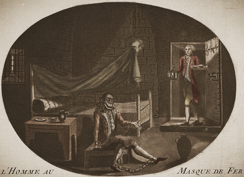 An anonymous 1789 print depicting The Man in the Iron Mask, via  Wikimedia Commons