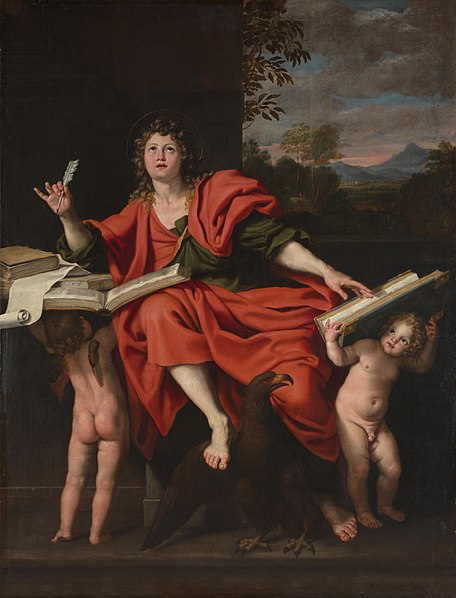 Saint John the Evangelist, by Domenichino c. 1624-29, via  Wikimedia Commons