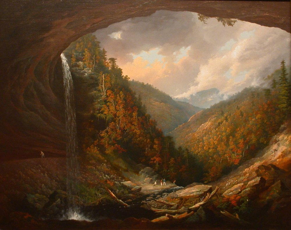 A good representation of how it may have looked, emerging from a cave into a lush and vibrant land, from a painting by William Guy Wall, via  Wikimedia Commons