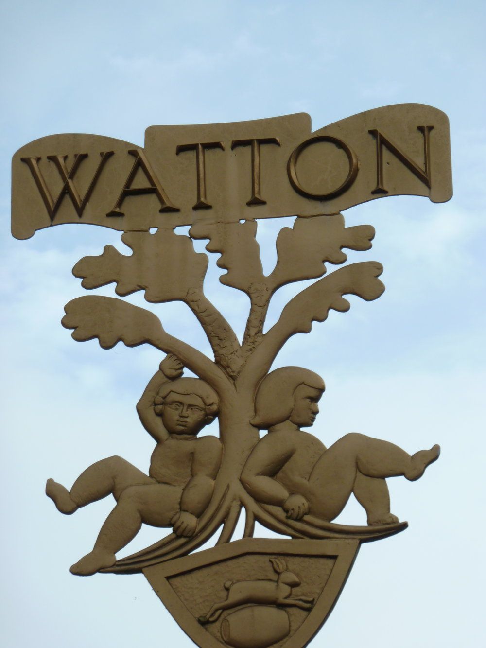 """ Watton town sign "" by  sleepymyf  is licensed under  CC BY-NC-ND 2.0"