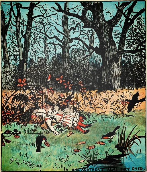Illustration from Caldecott's picture book, via  Wikimedia Commons
