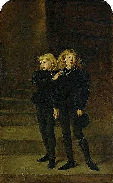 """The Princes in the Tower"" by John Everett Millais, 1878, via  Wikimedia Commons"