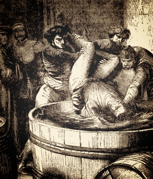 George, Duke of Clarence, drowned in a barrel of wine, via  Modern Medievalism
