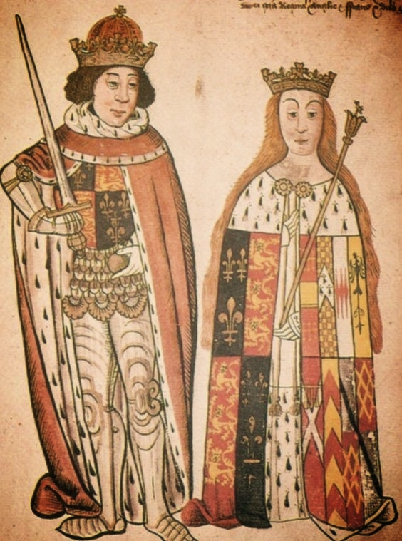 Richard Plantagenet's and Anne Neville's coronation, via Meandering Through Time