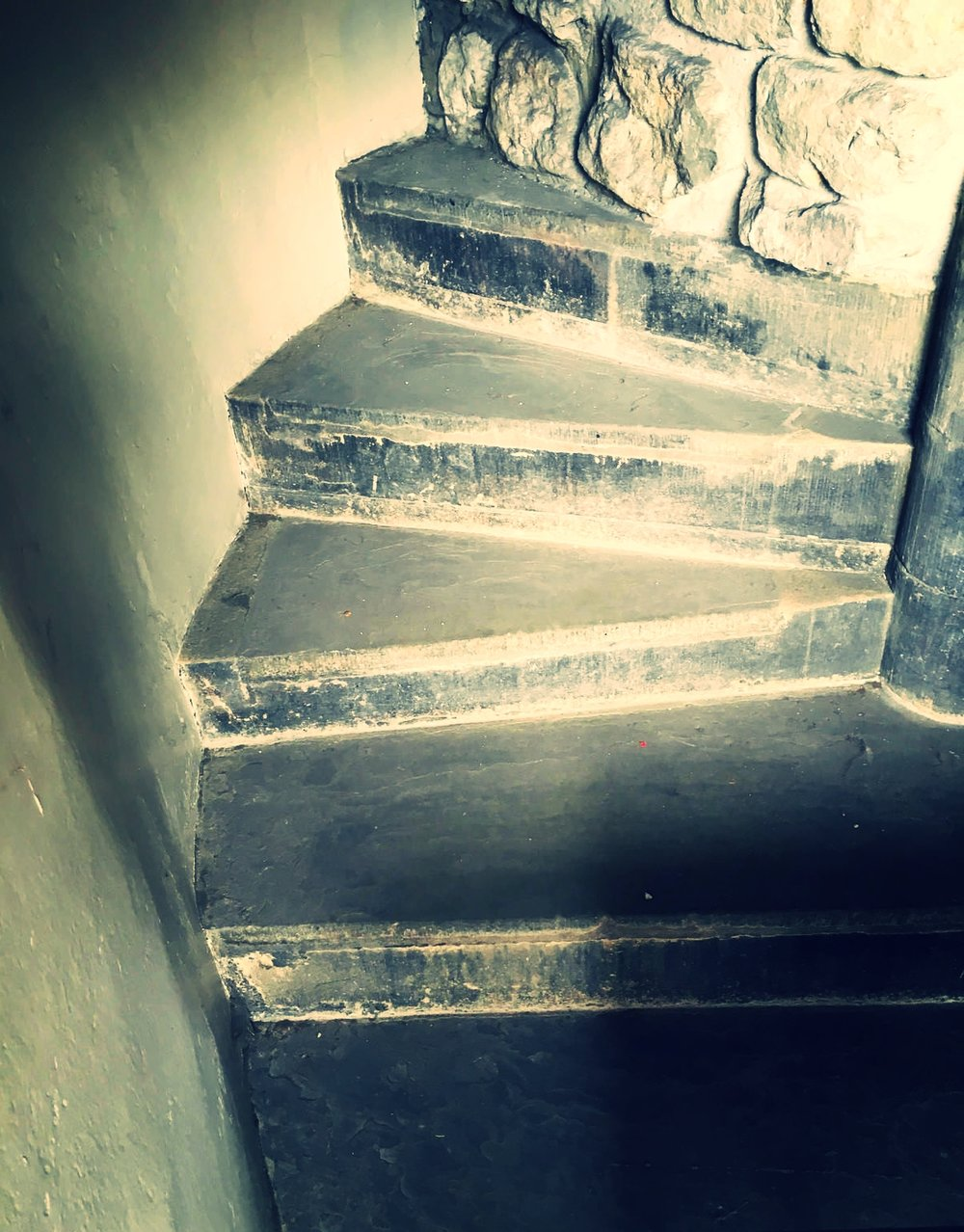 Stairs in the White Tower beneath which the bones are said to have been discovered, via  Atlas Obscura