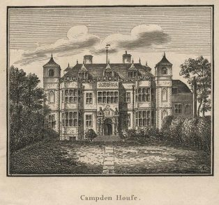 Campden House at Kensington, likely similar to the manor that burned down at Chipping Campden, via  Chipping Campden History Society