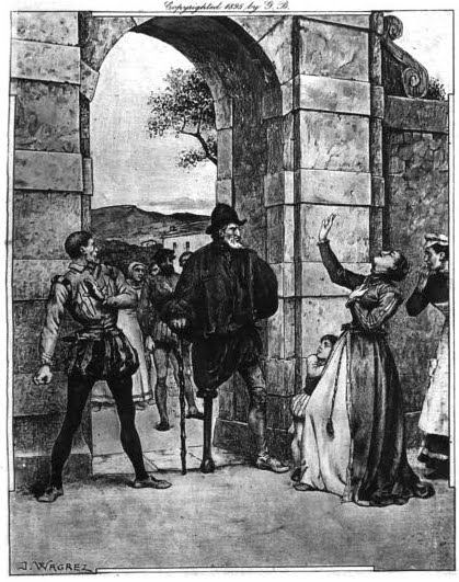 The Return of the True Martin Guerre  by Jacques Wagrez, from Alexandre Dumas's   Celebrated Crimes , Vol. 1, p. 272