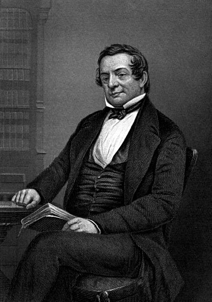 Washington Irving, looking rather proud of his mythologizing, via  Wikimedia Commons