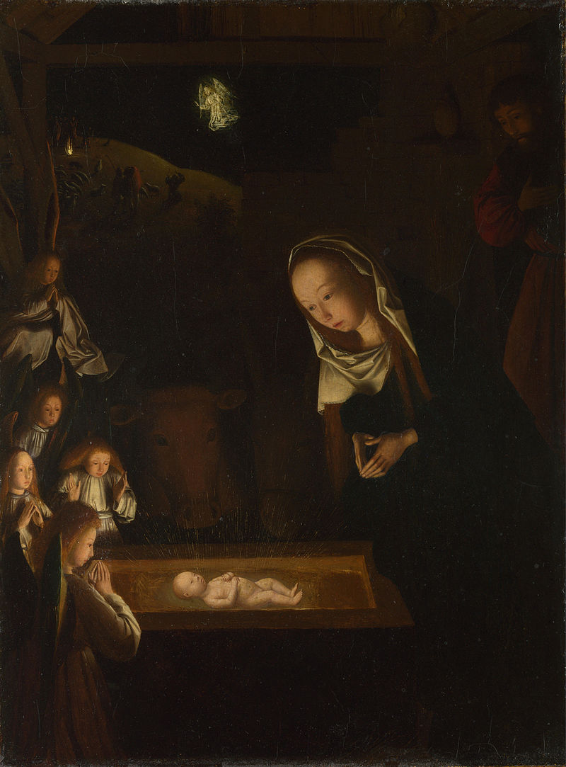 Geertgen tot Sint Jans's The Nativity at Night c. 1490, via  Wikimedia Commons