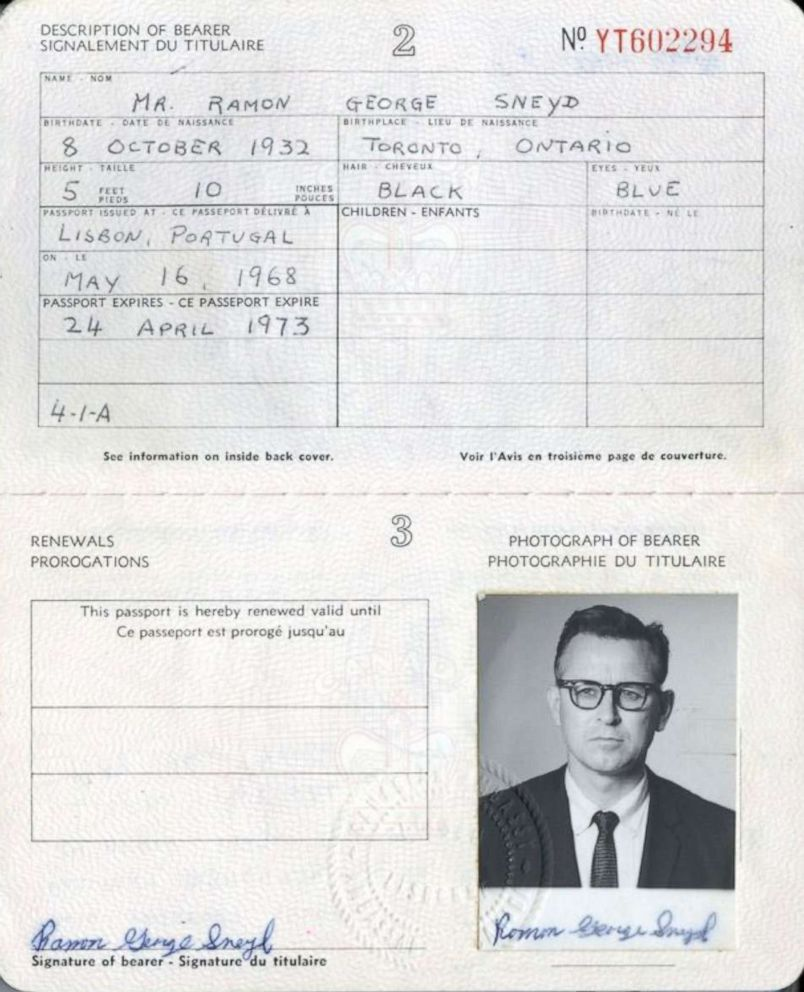 James Earl Ray's fake Canadian Passport, via  ABC News