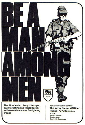 Rhodesian Army recruitment poster
