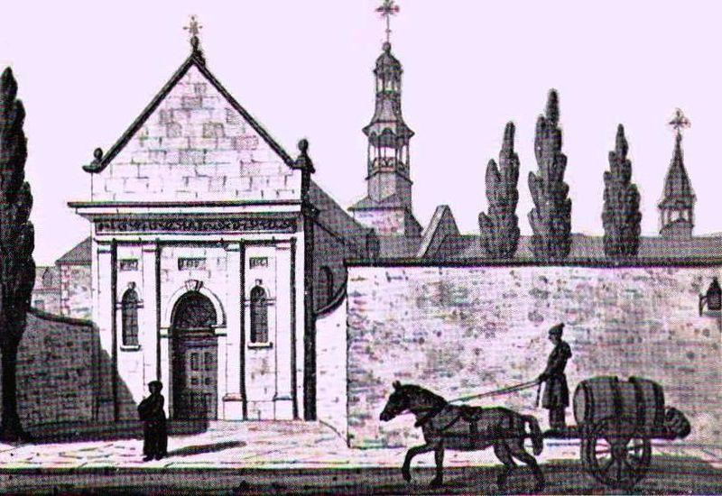 L'ancien Hôtel-Dieu de Montréal sur la rue Saint-Paul, et le charrieur d'eau, via  Wiki  pedia