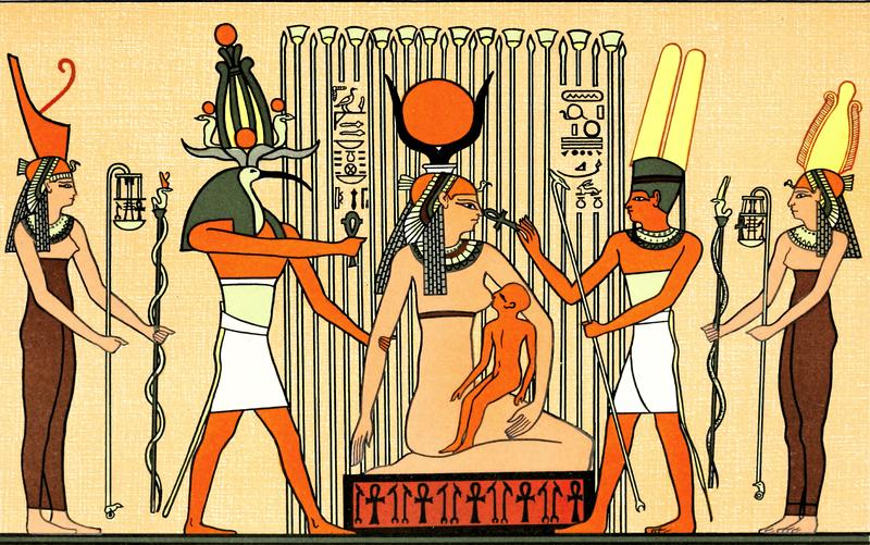 Isis suckling Horus, via  Wikimedia Commons