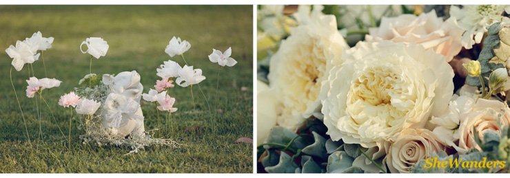 paper flowers, stunning florals, shewanders photography, san diego wedding photography