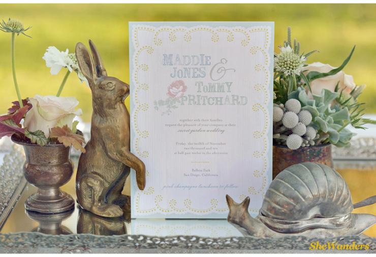 amazing wedding invitation, shewanders photography, san diego wedding photography