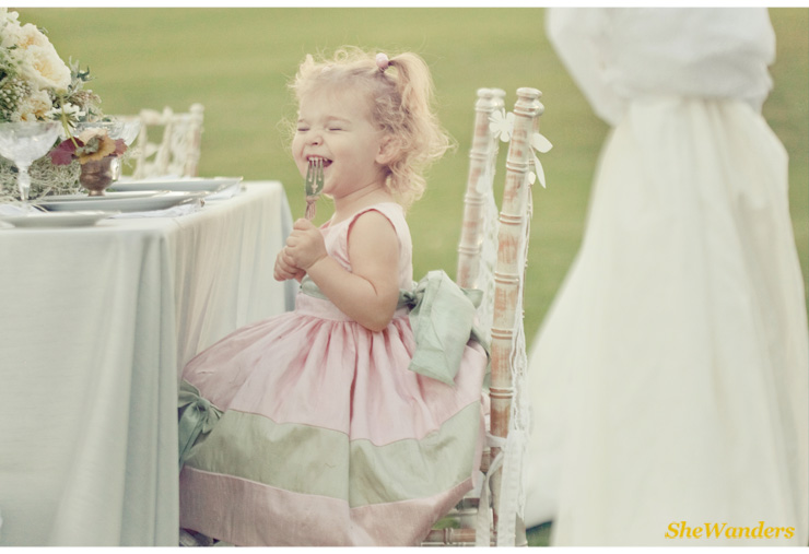 flower girl in pink dress with mint bow, shewanders photography, san diego wedding photography