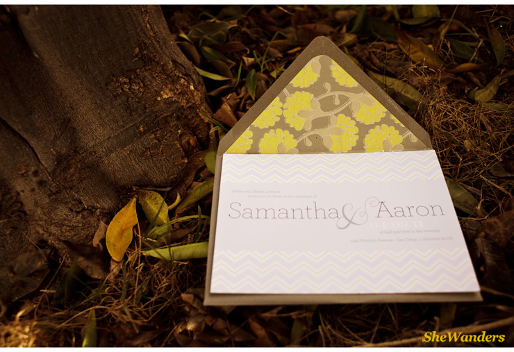 wedding invite, San Diego Wedding Photography, Shewanders Wedding Photography