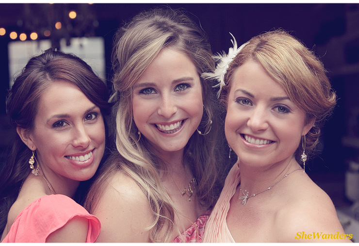 three girls in pink, close up, Shewanders Wedding Photography, San Diego Wedding Photography