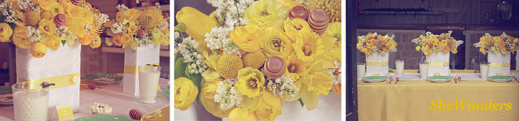 close up of table, yellow flowers and far view of table, Shewanders Wedding Photography, San Diego Wedding Photography