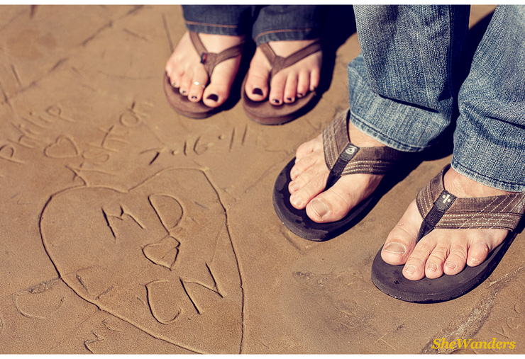 heart and feet, San Diego Wedding Photography, She Wanders Wedding Photography