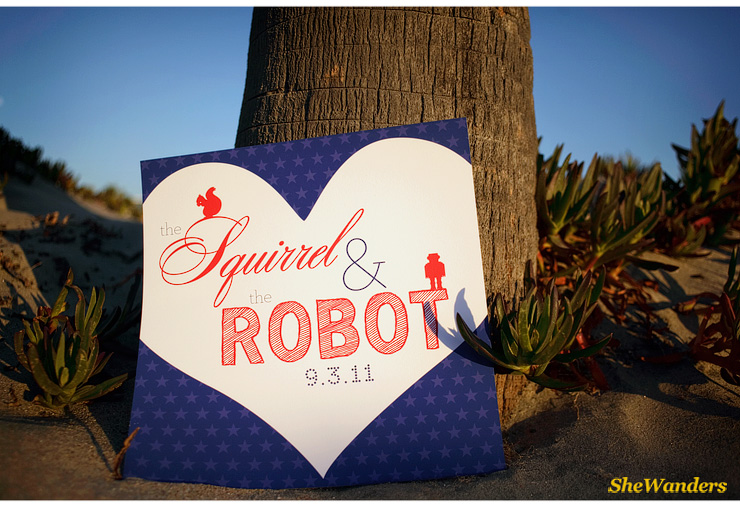 squirrel and the robot invitation, San Diego Wedding Photography, She Wanders Photography